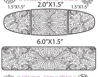 Making Jewelry Pattern for Etching Floral Cuff, Earring, Ring Download -DT-SS-0036