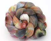 Falkland Wool Combed Top Hand Dyed Fine 100g - 3.5oz Kettle Dyed FT20 Spinning Felting Fibre