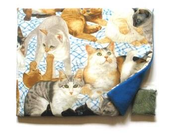 Catnip Mat and Catnip Beautiful Cats  and Kittens Refillable Reversible