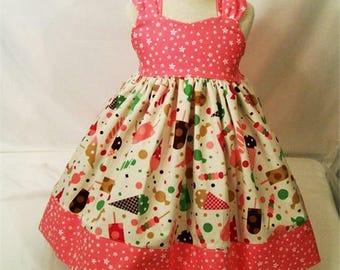 Girls Dresses, Reverse Knot Dress, Baby Dress, Toddler Dress, Big Girls Dress, Girls dress, Girls Boutique Dress, Handmade, USA Made, #192