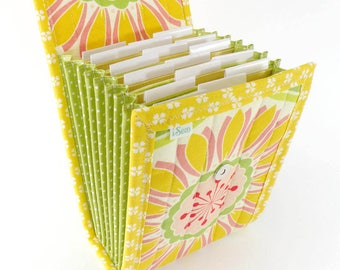 Circular Needle Case - Giant Daisy - Needle Holder Needle Wallet Circular Needle Organizer Yellow