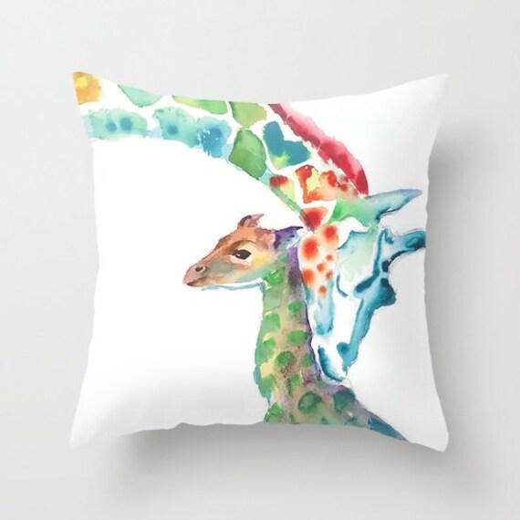 Giraffe Pillow kids room pillow dorm room pillows home decor Giraffe Gift dorm room decor gift for christmas pillow Baby Shower Gift Gift