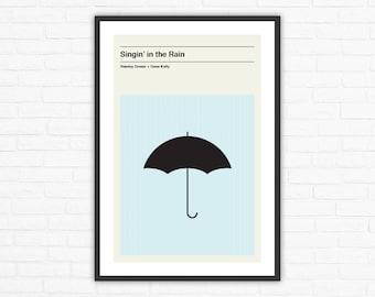 Singin' in the Rain, Minimalist Movie Poster