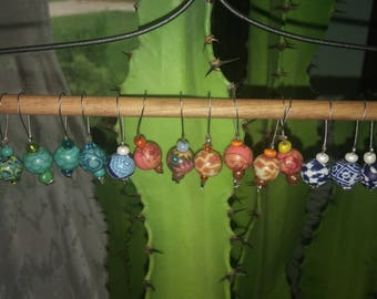 Colorful Polymer Clay Bead Stitch Markers