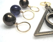 Harry Potter Ravenclaw House Stitch Marker Drops for Knitting or Crochet (Choose Your Size - Set of 8 with Charm)