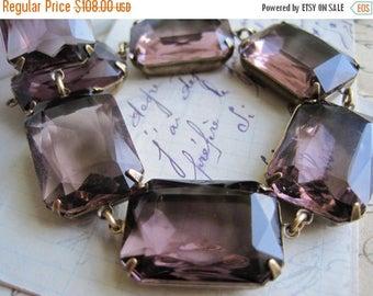 """SALE Light purple statement necklace, chunky purple necklace, collet, Jane Austen, Anna Wintour. """"Summer Violets"""""""