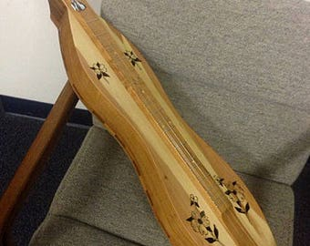 Dogwood Double-back Mountain Dulcimer, 4-string Custom Hour-glass, with optional electric
