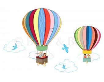 Balloon Wall Stickers hot air balloon wall decal