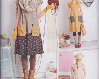 Simplicity 1080 Misses Dottie Angel  Dress Tunic Top UNCUT Sewing Pattern