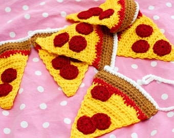 Pepperoni Pizza Garland - 50 inches long