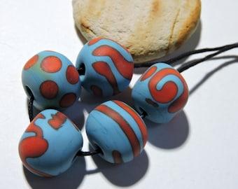 Lampwork Beads SANTA FE Two Sisters Designs 112216C