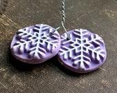 Tiny Purple Snowflake Charms