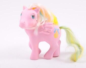 My Little Pony Curly Locks Pony Pink Pegasus, Rainbow Hair, Pony Tail Symbol - Works ~ Pink Room ~ 161206
