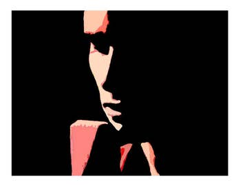 HALLELUJAH Jeff Buckley fine art print, Leonard Cohen, music, art, abstract,  home decor