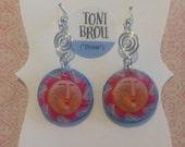 Fun Colorful Sun Dangle Earrings