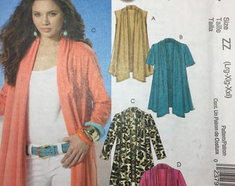 Easy McCall's 6084 misses' cardigan pattern size ZZ one hour cardigan uncut