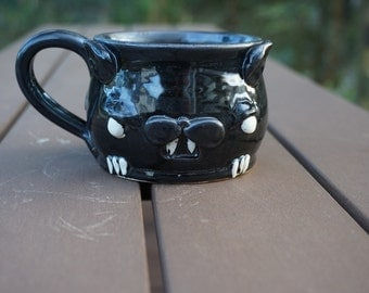 Stoneware Chiroptera Bat mug Hand thrown