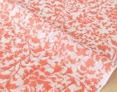 Japanese Fabric Botanical Swiss Dots - cotton lawn - coral pink - 50cm