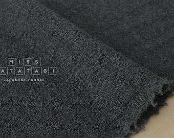 Japanese Fabric Wool Gauze - dark grey - 50cm