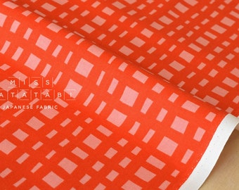 Cotton + Steel Yours Truly - going steady grid - flame - 50cm