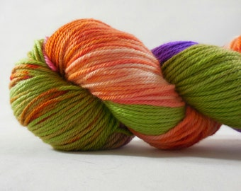 "Old School Merino Worsted Weight yarn in ""Great Pumpkin"" by AnniePurl"