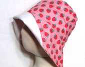 Strawberry Sunhat with SPF50+ Lining Fabric and Velcro Straps 7 SIZES!