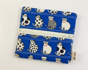 Kitty Cats Zipper Pouch For Mew Cat Love Coin Purse, Gift For Cat Lover