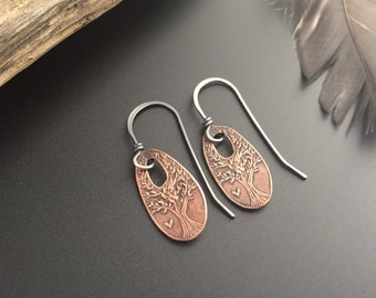 The Giving Tree Recycled Copper Earrings