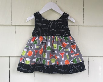 Science Dress | Math Dress | Chemistry | Science Birthday | Stem Clothing | Nerd Gift | Baby Gift | Lab Experiment | March for Science