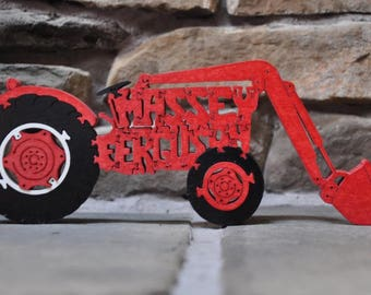Massey Ferguson  Choice Antique Red or Yellow  Farm Tractor Toy Puzzle Hand Cut