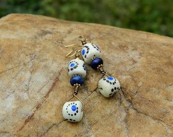 Boho African Sandcast Earrings