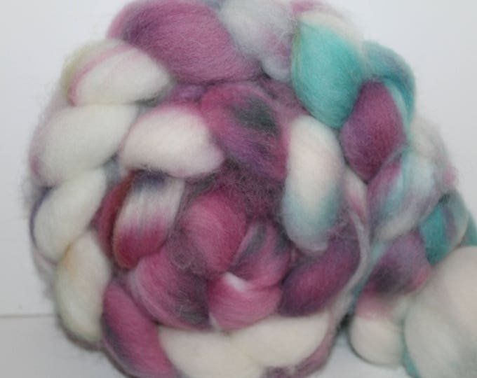 Kettle Dyed Cheviot Wool Top.  Easy to spin. 4oz  Braid. Spin. Felt. Roving. C66