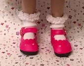 Effner Little Darling Doll Brand New Bubble Gum Pink Heart Shoes With Whipped Cream White socks By TnTCreations