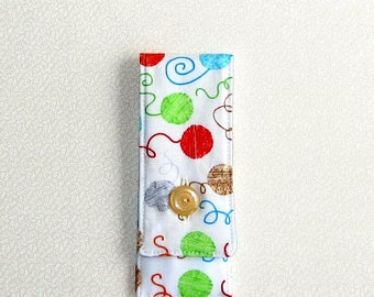 Sock Knitting Needles and Tools Mini Case,  6 inches, Small Sock and Go - Runaway Wool, multi
