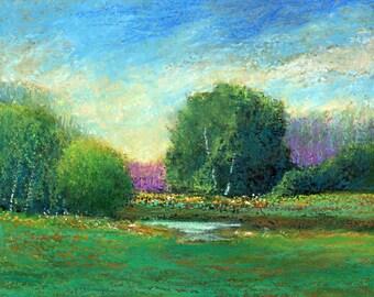 Bobbi Doyle-Maher Southern Landscape Original Oil Pastel painting FREE SHIPPING