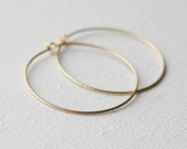 Gold Fill Hoop Earrings, Jewelry Gift Women, Geometric Jewellery, Sparkly Hoops, Holiday Jewellery Gift, Minimal Jewelry