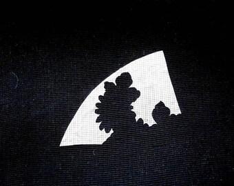 Vintage Japanese Stencil - Vintage Stencil -  Family Crest Stencil - Japanese Stencil - Fan Stencil - Flower Stencil