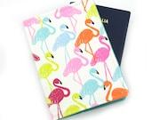 Bright Flamingo Passport Holder, Passport Cover, Passport Wallet, Passport Case, Travel Gift