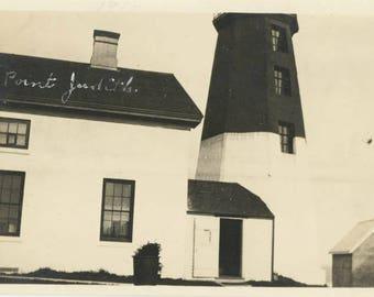 vintage photo Point Judith Rhode Island 1916 Lighthouse Light House
