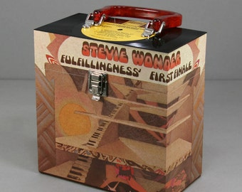Vinyl 45 Record Case 7-inch - Handmade from Recycled Record - Stevie Wonder - Fulfillingness' First Finale