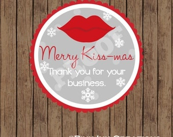 MERRY Kissmas Sticker / Kissmas Sticker / Christmas Sticker / Merry Kiss mas Favor Tag / Christmas Favor Tag / Christmas Gift Tag /Santa Tag