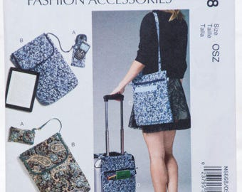 McCall's Accessories, 6668, Sewing Pattern, Cell Phone Bag,  Computer Sleeves and Bags