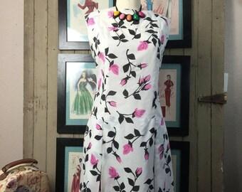 Fall sale 1960s sundress 60s sheath mad men dress size medium vintage dress 20s style dress dropwaist dress