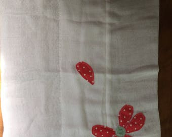 Lost Petal quilted burp cloth diaper
