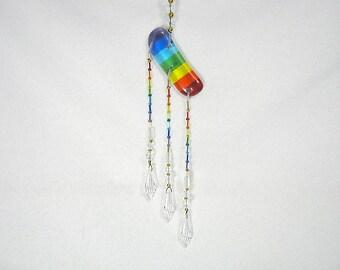 Rainbow Suncatcher with Crystal Prisms, Rainbow Glass, Rainbow Maker