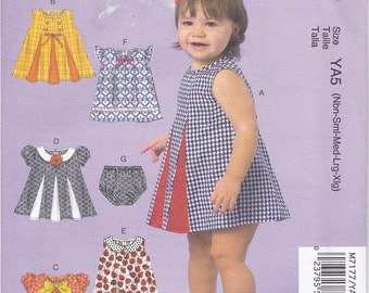 McCalls 7177 Baby Girls Infants Dresses and Panties Sewing Pattern Sizes Nbn-Xlg New UNCUT
