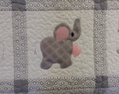 Elephant Treasures handmade quilt reserved for Jane