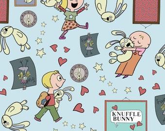 Knuffle Bunny fabric from  Cloud Nine, All Things Fun Blue, Organic Cotton, HALF yard