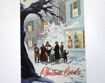 Vintage Christmas Carol Songbook Advertising Booklet 1950's