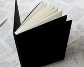 Large Black Notebook with Soft Covers and Printed Dark Blue Endpapers
